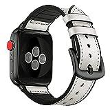Correa de pulsera para Apple Watch, correa híbrida de cuero...