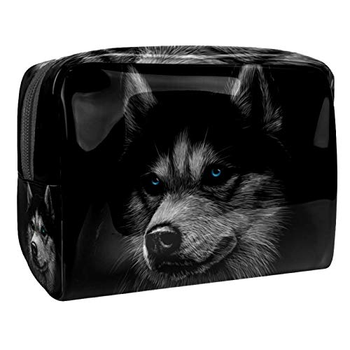 Cosmetic Organizer Husky Travel Makeup Beauty Bag Portable Toiletry Bag Multifunction for Women Girls 18.5x7.5x13cm