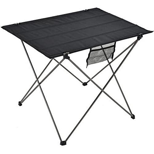 Aiong Mesa de Picnic, Mesa Plegable portátil Que acampa mesas al Aire Libre de la Cama del Ordenador de los Muebles