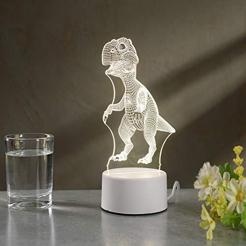 Nueva lámpara de Mesa pequeña 3D LED de luz de Regalo Control Remoto Creativo Dormitorio cálido lámpara de Noche USB luz Nocturna USB Monocromo