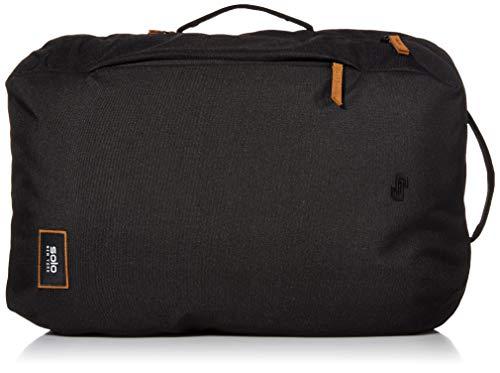 Solo New York Crosstown Rucksack für Laptops bis zu 15,6 Zoll (39,6 cm), leicht Checkpoint Friendly Weekender Tasche für Damen und Herren, Schwarz / Hellbraun