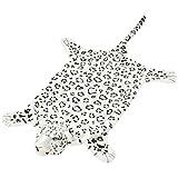 vidaXL Alfombra de Leopardo de Peluche 139 cm Blanco Manta Tapete Infantil Suave