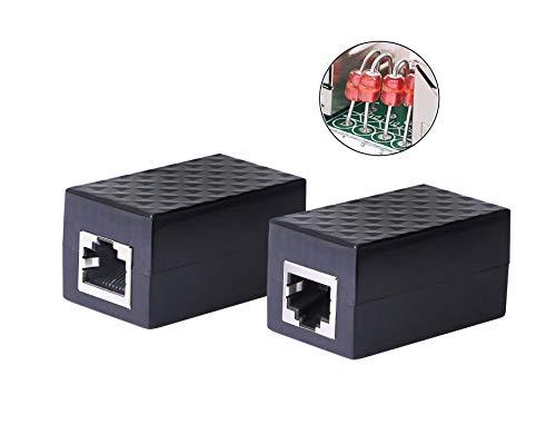 CERRXIAN Ethernet Surge Protector RJ45 Coupler Female to Female...
