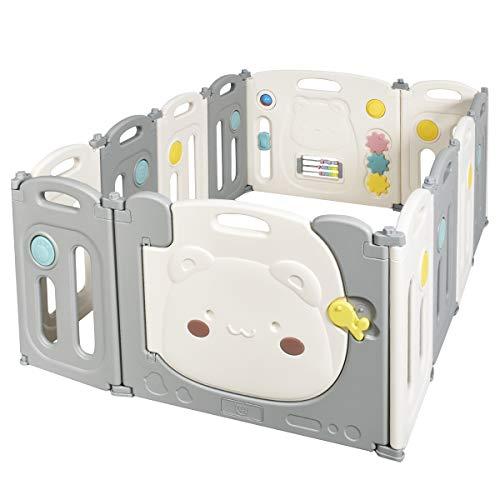 COSTWAY Parque Infantil Bebé con 12 Paneles Plegable Centro de Actividad para...