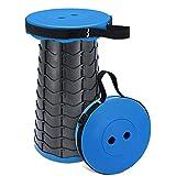 TAECOOOL Taburete plegable de última actualización plegable taburete de camping ligero para acampar al aire libre Pesca Barbecu cocina interior carga máxima 158 kg (azul)