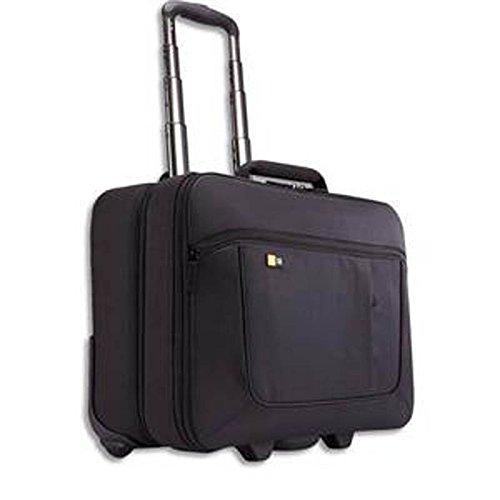 Trolley en nylon pour PC de 14 à 18'' + compartient vêtements Dim. L 46 x H 40,4 x P 23,6 cm, noir