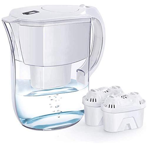 Autmor 10-Tassen-Wasserfilterkrug mit 2 Filter, langlebig (200 Gallonen), 5-fach lebenslanger Filtrationskrug, reduziert Blei, Fluorid, Chlor und mehr, BPA-frei