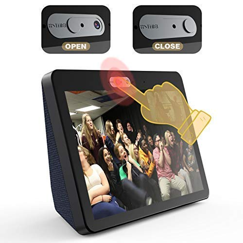 Camera Cover for Echo Show 2nd Generation [2-Pack in Box]-The Webcam Cover can Cover The New Echo Show's Camera Then Protect The Privacy of All Users .Very Easy to Install.Designed by VMEI (Black)