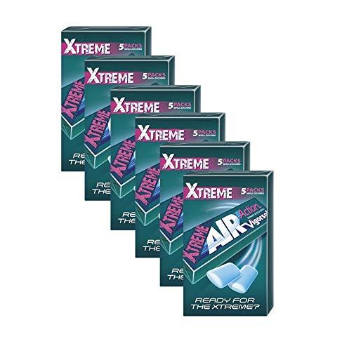 Vigorsol Air Action Gomme da Masticare Senza Zucchero Multipack Stick, Chewing Gum Gusto Menta Xtreme, 6 Confezioni da 5 Stick, 30 Stick in Totale