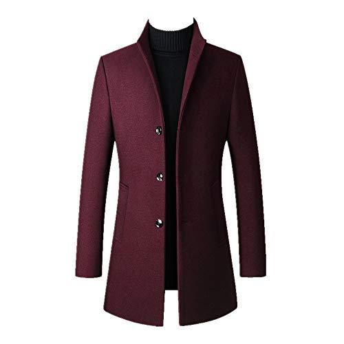 Otoño Invierno Hombres Capa Espesamiento Masculino Caliente Stand Collar Manga Larga Gran Tamaño Trench Jacket