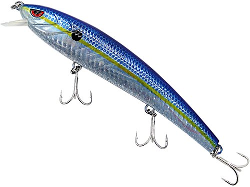Evike - Truscend JerkQueen Electronic Twitching/Luminating Sinking Minnow Lure (Model: Blue Shad)