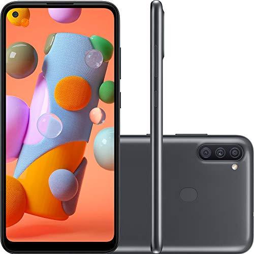 """Smartphone Samsung Galaxy A11 64GB Dual Chip Tela 6.4"""" Octa-Core Câmera Tripla 13MP+5MP+2MP Preto, SM-A115MZKGZTO"""