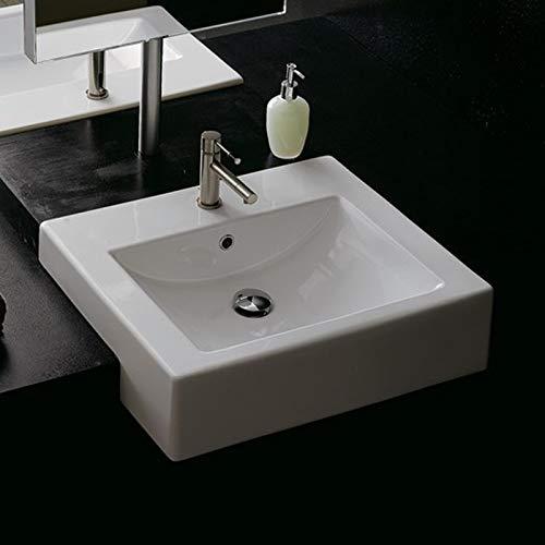 Unbekannt Scarabeo Waschbecken halbeingebaut 51 cm weiß Square Art.8025D