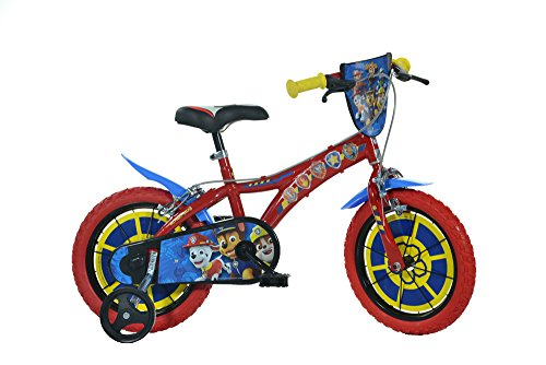 Dino Bikes 614-PW Paw Patrol Fahrrad, rot, 35,6 cm