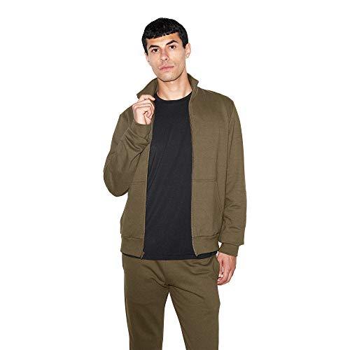 American Apparel Unisex-Erwachsene California Fleece Long Sleeve Track Jacket Baumwolle, leicht, Jacke, Army, Small