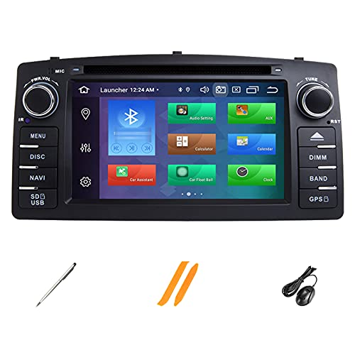 HAZYJT Android 10.0 [4gb+64gb] Radio Coche con Pantalla Táctil 2 DIN Compatible con To-yota Corolla E120 Apoyo Mandos Volante con Bluetooth/GPS/CD DVD/USB/RCA
