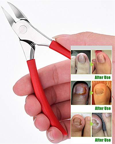 YEESAM Tondeuse à ongles pour ongles épais ou incarnés à bord droit de précision à long manche, ciseaux pour les personnes âgées et professionnelles.