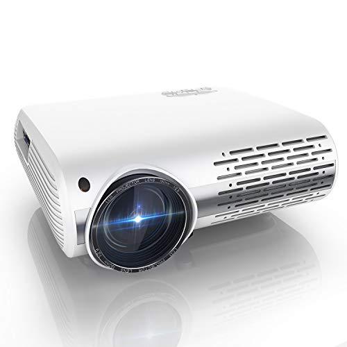 Proyector, YABER Y30 8000 Lúmenes Proyector Full HD 1920x1080P Proyector Cine en Casa Soporta 4K y Sonido HiFi, Ajuste Digital 4D y Función de Zoom, Proyector LED con Tecnología de Nueva Generació