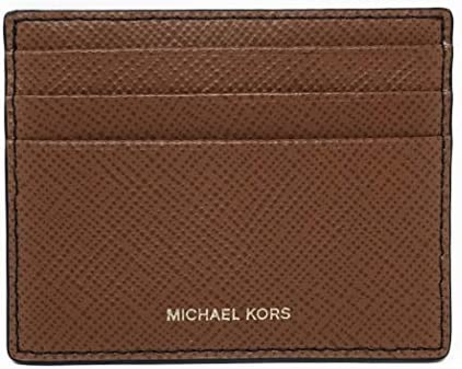 Michael Kors Mens Slim Leather Card Case Wallet Luggage Saff Small product image