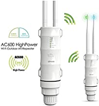 WAVLINK ARIEAL HD2 – AC600 Outdoor WiFi Access Point High Power Dual Band 2.4+5G 600Mbps Wireless Router/AP/Wi-Fi Range Extender 3 in 1 Weatherproof with PoE, Upgrade Version