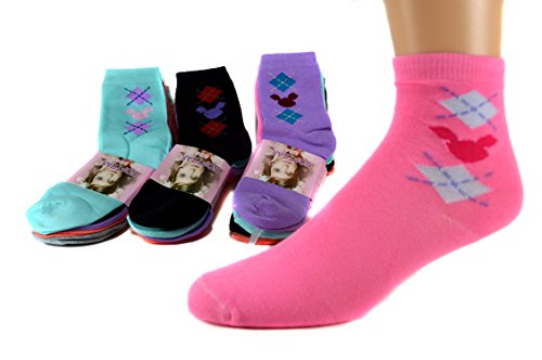 SOFTSAIL 10 Paar Kids Mädchen Socken Damen Freizeit Strümpfe 95% Baumwolle Bunt Gr. 32-39 A.845 (36-39)