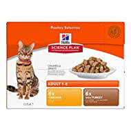 Hill's Science Plan Feline Pouches Mega Pack 48 x 85g - Adult Poultry Selection