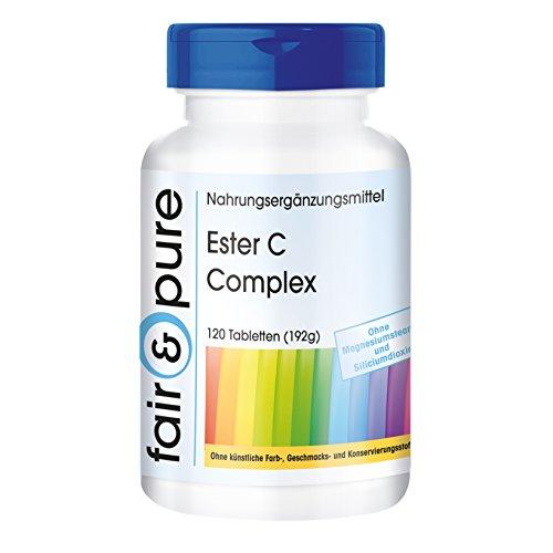 Ester C Complex - mit Bioflavonoiden - gepuffertes Vitamin C - vegan - 120 Tabletten