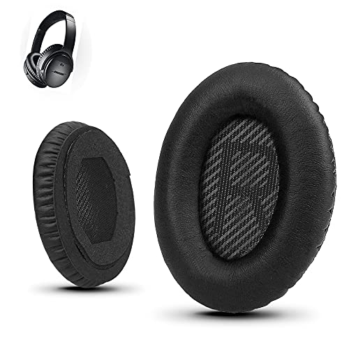 Premium Ear Pad Replacement for Bose Headphones Earpads, Compatible with Bose QuietComfort 35 ii /QC35 /QC25 /QC2 /QC15 /Ae2 /Ae2i /Ae2w /SoundTrue & SoundLink, by Krone Kalpasmos – Classic Black
