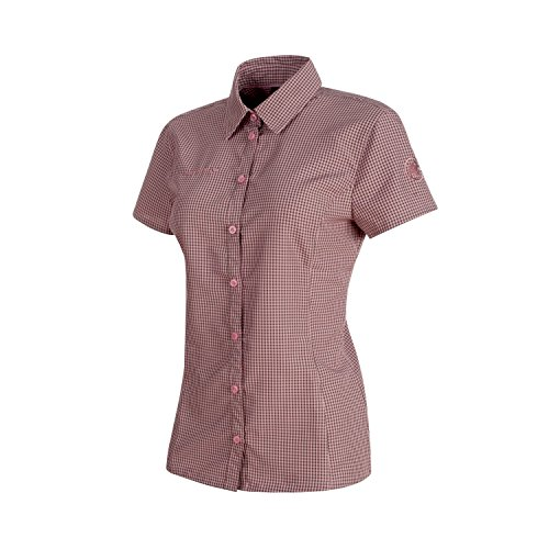 Mammut Aada Hemd XS Kurzarm Poloshirt Neckline Polyester Pink - Hemden und T-Shirts (T-Shirt, Erwachsene, Femenino, XS, Kurzarm, Poloshirt Neckline)