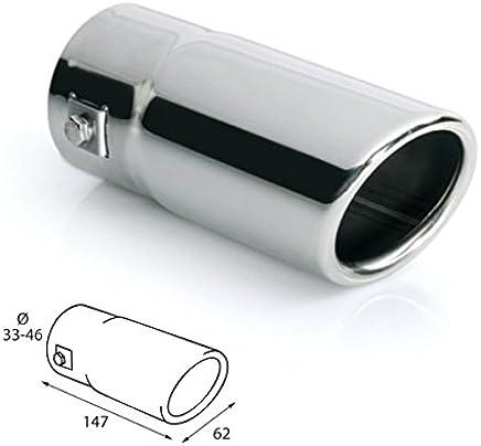 KIMISS Voiture modification 76 mm Silencieux D/Échappement arri/ère Tuyau d/échappement Embout dextr/émit/é pour Q3 A6