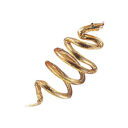 MyPartyShirt Gold Snake Cleopatra Armband, Headband or Bracelet