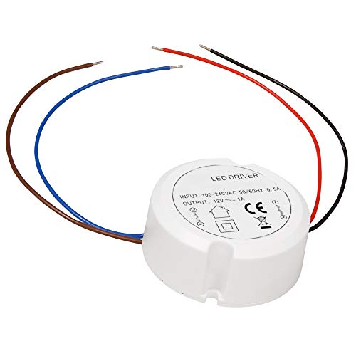LED Trafo Treiber Elektronisch 0.5W - 12W 230 V~ auf 12V= Rund ø x H - 55 x 23