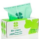 YORJA 100% compostable Biodegradable 10L Bolsa Basura Alimentos Cocina Bolsas de basura-150 Bolsas