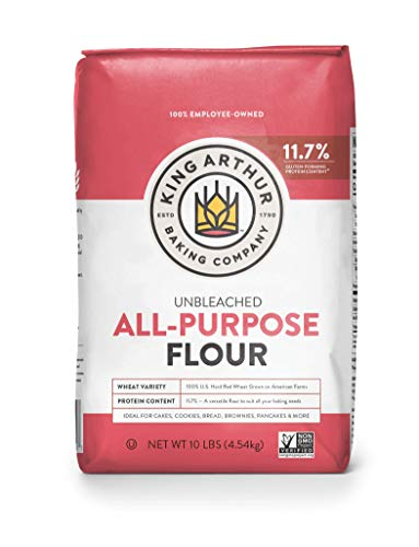 King Arthur, All Purpose Unbleached Flour, Non-GMO Project Verified, Certified Kosher, No Preservatives, 10 Pounds (Packaging May Vary)