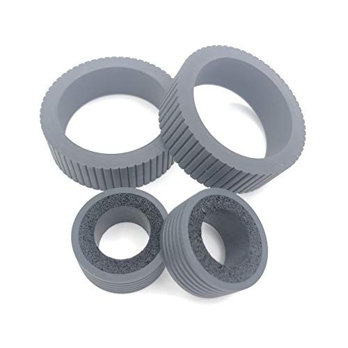 New OKLILI 1SET X B12B819031 Pick Feed Roller Tires Set Compatible with Epson DS-530 DS-570W DS-575 ...