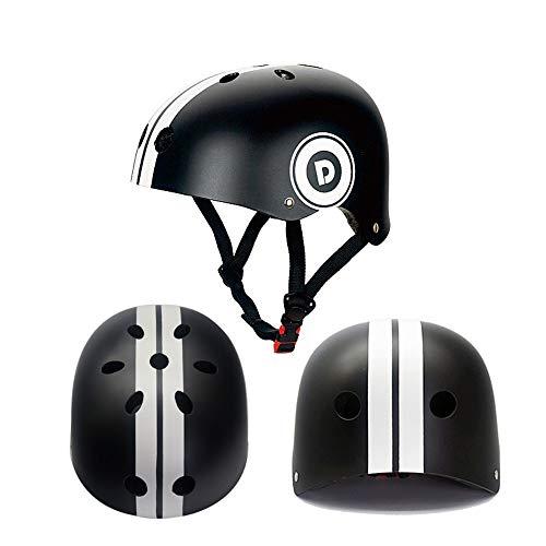 Kaper Go Skating Skateboard Helm Skateboard Helm Balancing Car Helm Reiten Fahrradhelm Männer Und Frauen (Color : Black)