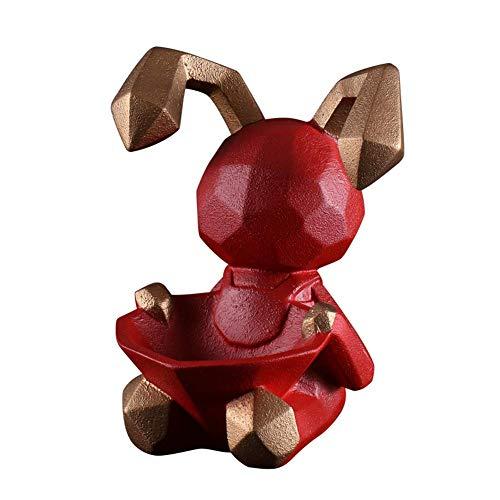 NAFE Wohnzimmer Dekorationen aufbewahrungsbox, Wohnzimmer weinschrank Schlafzimmer Veranda ablage Kosmetik Snack aufbewahrungsbox Desktop Dekoration-red