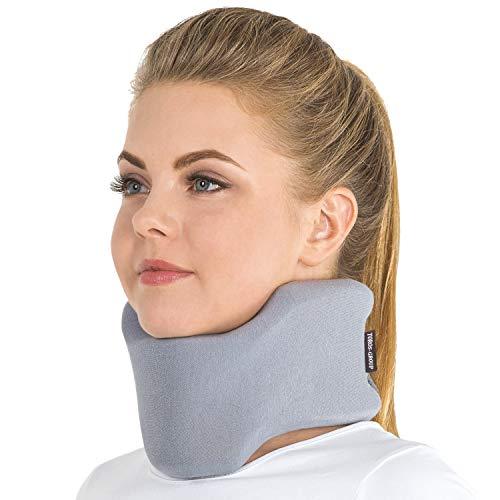 TOROS GROUP Collarín Cervical ortopédico; Soporte para el Cuello, Alivio del Dolor y la Presión en la Columna Vertebral; semirrígido para vértebras cervicales; 100% algodón X-Small Gris