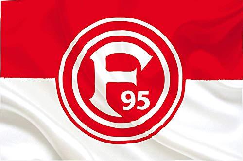 Fortuna Düsseldorf Fahne/Hissfahne ** Fortuna Fahne mit Öse ** 12005
