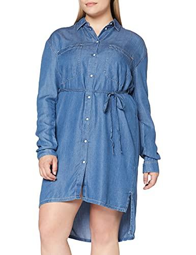 Pepe Jeans Vestido, Azul (Denim 000), Medium para Mujer