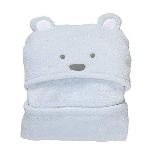 Peignoir bébé en peluche unisexe, couverture Little Bear (blanc/rose/bleu clair)