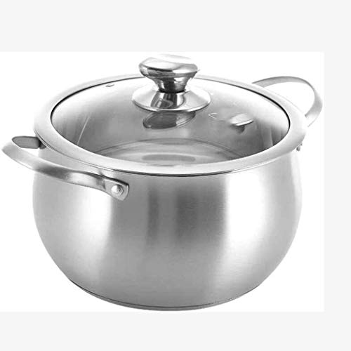YAMMY Colección de Utensilios de Cocina: Apto para lavavajillas, Apto para Horno, Olla de Acero Inoxidable de Calibre Pesado (Olla Caliente)