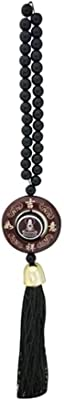 Divya Mantra Decorative Black Chinese Feng Shui Talisman Gift Pendant Amulet for Car Rear View Mirror Decor Ornament Accessories/Good Luck Charm Protection Interior Wall Hanging Showpiece