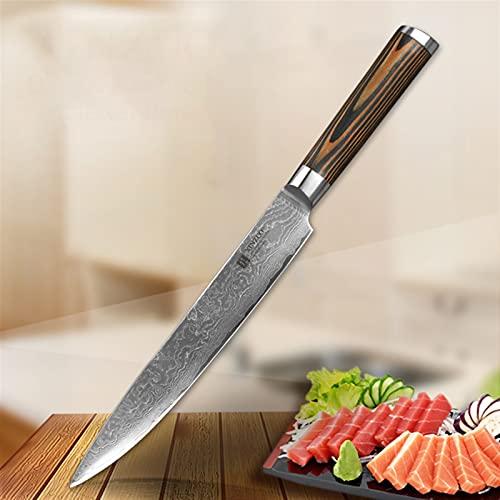 Cuchillo de cuchilla de 8'pulgadas Cuchillo de cocina de acero Damasco 67 Capa Japón Herramienta de cocina VG10 Sashimi Sushi Cuchillos Pakkawood Mango