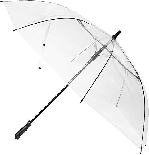 WASING 60 Pouces Grand Parapluie Transparent Dôme Golf Umbrellas Ouverture Automatique Coupe-Vent et Imperméable Parapluie Transparent Parapluie pour Femme Mariage Photoshoot de Mariée