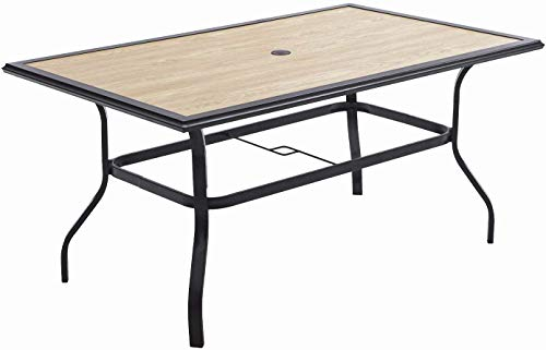 Outdoor Dining Table, Square Patio Furniture Table...