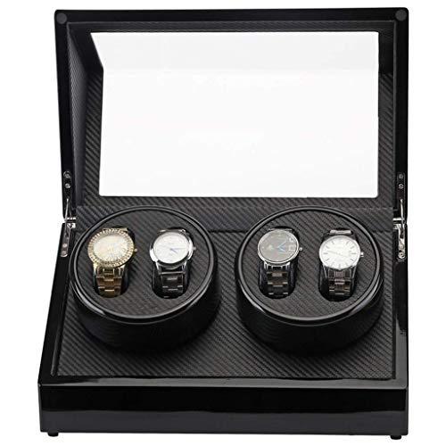 Enrollador automático de relojes, enrolladores domésticos 4 + 0 Cajas de rotación de bobinado Mini Caja de motor ultra silenciosa Caja de agitador de mesa de gama alta (Color, Tamaño: Talla única)