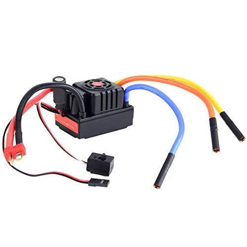 Voluxe Controlador de velocidad de camión, controlador de velocidad sin escobillas fuerte y resistente para aficionados al aire libre (enchufe T no inductivo)