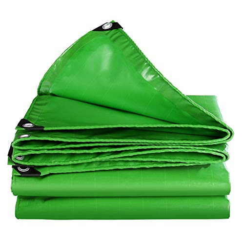 MAGFYLY Grote Camping Tuin Grote Versterkte Tarpaulin Canvas Heavy Duty Green Waterdichte Tarp Cover voor Tent Trailer Tent Truck, Tear and UV Resistant Protection Sheet Tarps