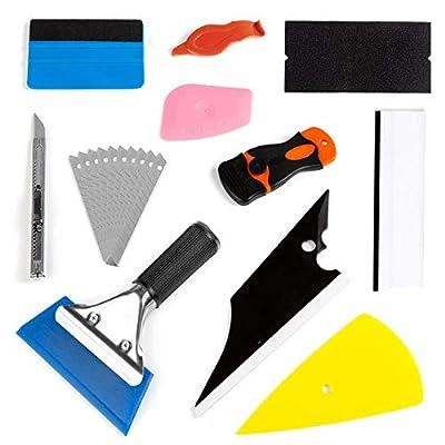 ZWOOS Film Vitre Teinté Voiture, Emballage de Installer l'outil Fenêtre Teinte de Film Kit de Jeu de Rondelle de Voiture Kit d'outils de Nettoyage de Haute Qualité